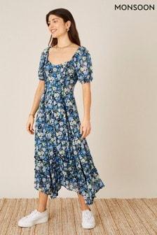 Monsoon Sustainable Viscose Marleigh Printed Dress