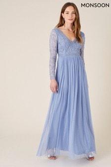 Monsoon Leela Embroidered Maxi Dress