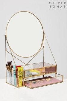 Oliver Bonas Round Dressing Table Mirror