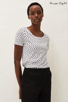 Phase Eight White Elspeth Spot T-Shirt