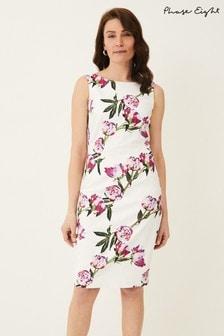 Phase Eight Cream Rochella Peony Print Dress