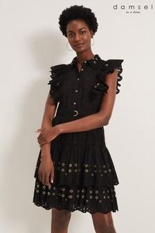 Damsel In A Dress Black Ana Ruffle Dress