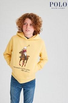 Ralph Lauren Yellow Big Pony Hoodie