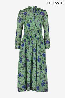 L.K.Bennett x Royal Ascot Green Gish Pale Mint Silk Dress