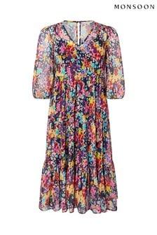 Monsoon Blue Helen Dealtry Suvi Printed Tunic Dress