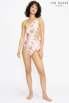 Ted Baker Khloie One Shoulder Cut Out Swimsuit