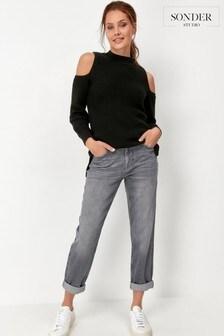 Sonder Studio Grey Girlfriend Jeans