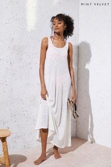 Mint Velvet Off-White Beach Maxi Dress