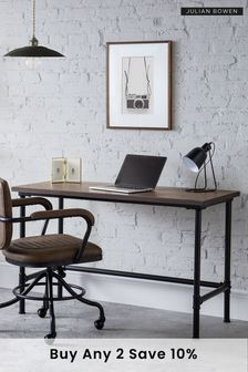 Carnegie Pipe Desk By Julian Bowen