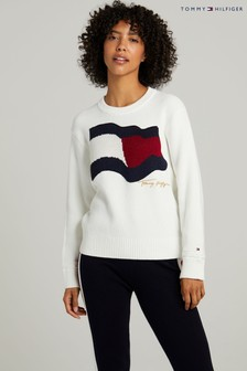 Tommy Hilfiger Natural Flag Crew Neck Sweater