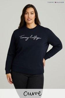 Tommy Hilfiger Blue Curve Graphic Sweatshirt
