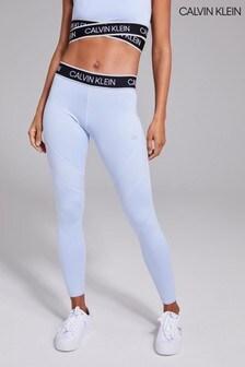Calvin Klein Blue Full Length Tights