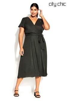 City Chic Black Sashay Dress