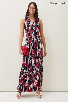 Phase Eight Multi Ellen Palm Print Jersey Maxi Dress