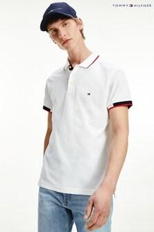 Tommy Hilfiger White Slim Polo