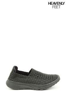 Heavenly Feet Cosmos2 Ladies Black Ath-Leisure Shoes
