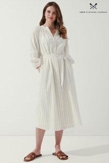 Crew Clothing Company Cream Cassidy Dress