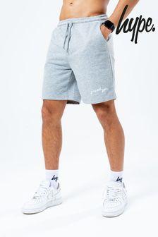 Hype. Mens Grey Scribble Logo Jersey Shorts