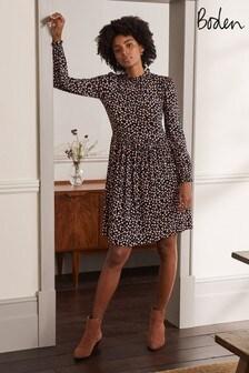 Boden Black Clara Jersey Dress