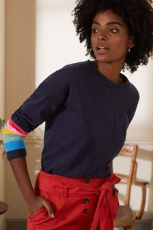 Boden Blue Boxy Jersey Tee
