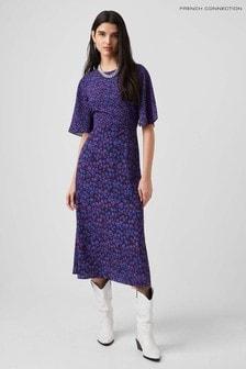 French Connection Purple Bethanie Verona Midi Dress