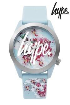 Hype. Kids Blue Floral Watch