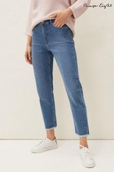 Phase Eight Blue Petra Raw Hem Jeans