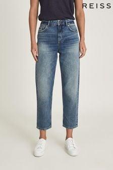 Reiss Elle High Rise Straight Leg Jeans