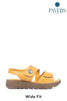 Pavers Extra Wide EE+ Ladies Leather Sandals