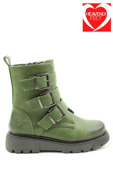 Heavenly Feet Ladies Green Low Calf Oklahoma Style Boots