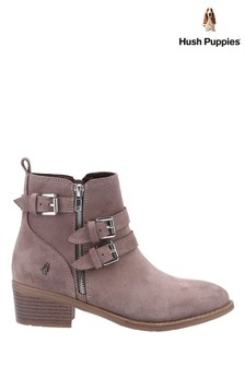Hush Puppies Brown Jenna Ankle Boot