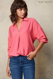 Mint Velvet Womens Oversized Pink Shirt