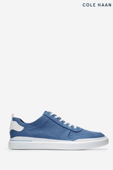 Cole Haan Blue Grandpro Rally Canvas Court Trainers
