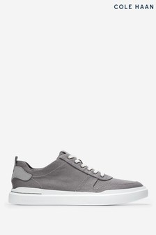 Cole Haan Grey Grandpro Rally Canvas Court Trainers