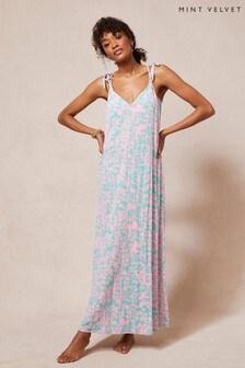 Mint Velvet Elizabeth V-Neck Maxi Dress