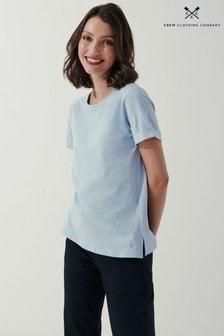 Crew Clothing Company Blue Perfect Crew Slub T-Shirt