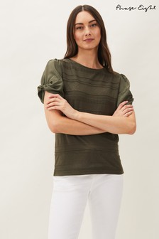 Phase Eight Green Bylee Textured Top