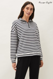 Phase Eight Blue Leah Stripe Funnel Neck Top