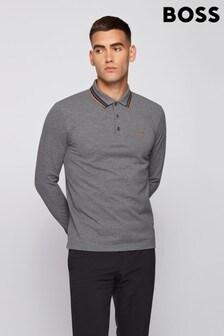 BOSS Grey Plisy Polo Shirt