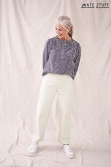 White Stuff White Whitstable Organic Trouser