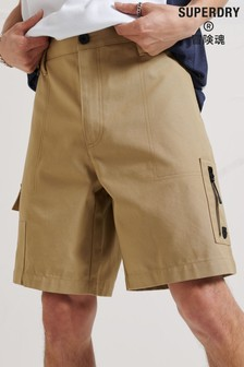 Superdry Brown Energy Convenience Store Shorts