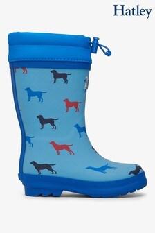 Hatley Blue Friendly Labs Sherpa Lined Rain Boots