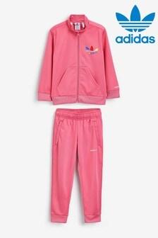 adidas Pink Adicolor Tracksuit