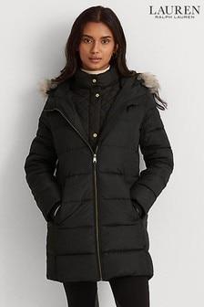 Lauren Ralph Lauren Insulated Double Zip Down Quilted Jacket