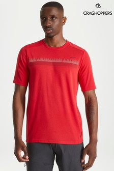 Craghoppers Red Dynamic Short Sleeved T-Shirt