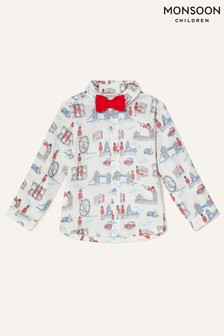Monsoon Natural London Guard Shirt And Bow Tie