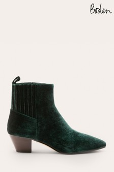Boden Green Western Ankle Boots