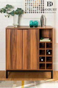 Banbury Designs Bar Cabinet with Wine Storage
