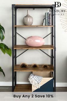 Banbury Designs Angle Iron Urban Industrial Bookshelf