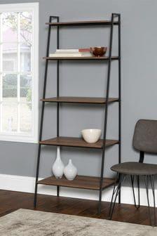 Banbury Designs Metal and Wood Ladder Shelf